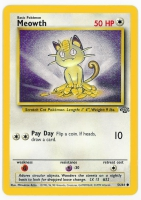 Pokemon TCG Card: Meowth from Jungle