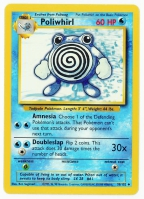 Pokemon TCG Card: Poliwag Stage 1: Poliwhirl from Base