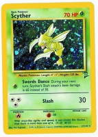 Pokemon TCG Card: Scyther from Base 2 (Foil)