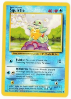 Pokemon TCG Card: Squirtle from Base