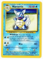 Pokemon TCG Card: Squirtle Stage 1: Wartortle from Base