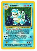 Pokemon TCG Card: Squirtle Stage 2: Blastoise from Base 2 (Foil)