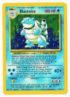 Pokemon TCG Card: Squirtle Stage 2: Blastoise from Base (Foil)