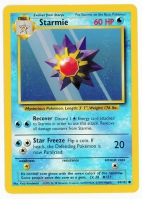 Pokemon TCG Card: Staryu Stage 1: Starmie from Base