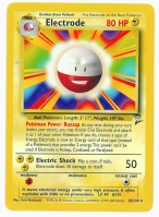 Pokemon TCG Card: Voltorb Stage 1: Electrode from Base 2