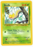 Pokemon TCG Card: Weedle from Base
