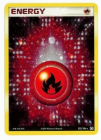 Pokemon TCG Energy Card: Fire Energy from EX Emerald (Damaged Foil)