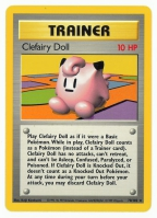 Pokemon TCG Trainer Card: Clefairy Doll from Base