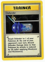 Pokemon TCG Trainer Card: Defender from Base (Damaged)