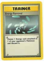 Pokemon TCG Trainer Card: Energy Removal from Base