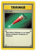 Pokemon TCG Trainer Card: Full Heal from Base (Damaged)