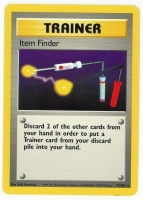 Pokemon TCG Trainer Card: Item Finder from Base