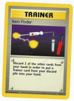 Pokemon TCG Trainer Card: Item Finder from Base (Damaged)