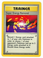 Pokemon TCG Trainer Card: Super Energy Removal from Base
