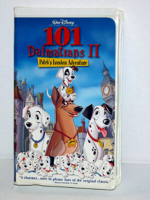 Disney VHS Tape: 101 Dalmations II: Patch's London Adventure
