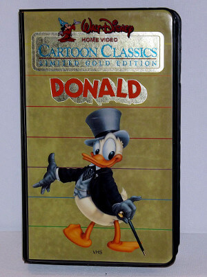 Disney VHS Tape: Walt Disney Cartoon Classics Limited Gold Edition featuring Donald Duck