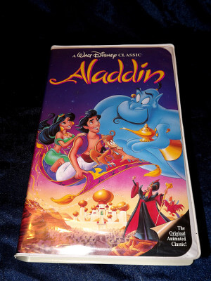 Disney VHS Tape: Walt Disney's Black Diamond Classic Aladdin