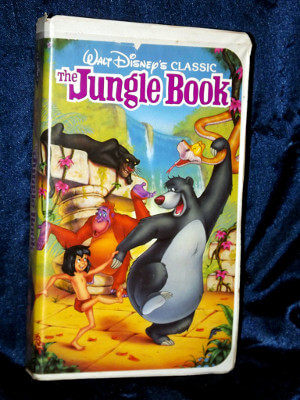 Disney VHS Tape: Walt Disney's Black Diamond Classic The Jungle Book