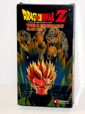 Dragon Ball Z VHS Tape: Episodes 201-204, World Tournament - Black Out (Dubbed Anime)