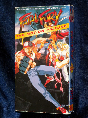 Fatal Fury VHS Tape: The Motion Picture (Dubbed Anime)