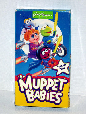 Muppet Babies VHS Tape: Time to Play