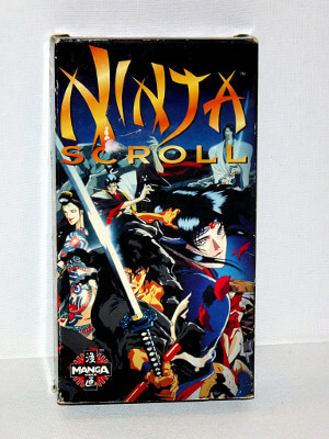 Ninja Scroll VHS Tape: The Movie (Dubbed Anime)