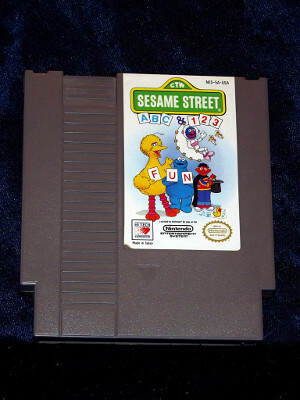 Nintendo Game: Sesame Street ABC & 123 with Box and Manual