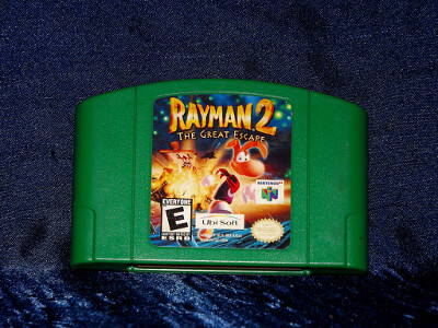 Nintendo 64 Game: Rayman 2 The Great Escape with Box