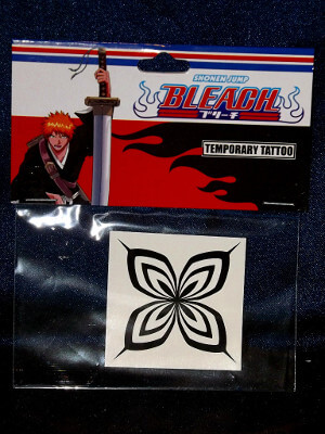 Bleach Temporary Tattoo: Soifon Butterfly Mark