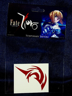 Fate/Zero Temporary Tattoo: Uryu Ryunosuke Command Seal