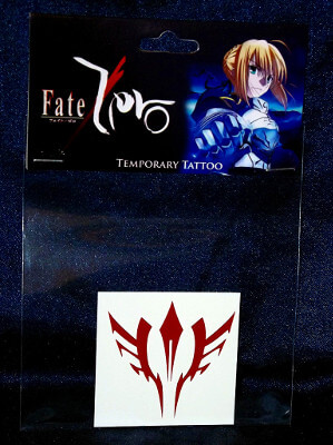 Fate/Zero Temporary Tattoo: Waver Velvet Command Seal