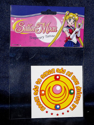 Sailor Moon Temporary Tattoo: I'll Punish You In The Name Of The Moon