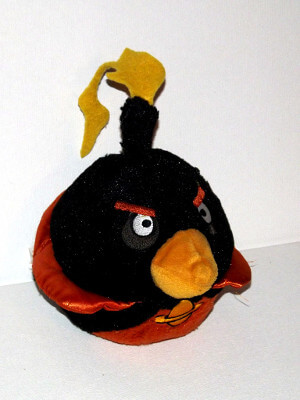 "Angry Birds Plushie: 6"" Bomb Black Bird, Space Version"