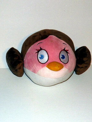 "Angry Birds Plushie: 7½"" Stella, as Princess Leia from Star Wars"