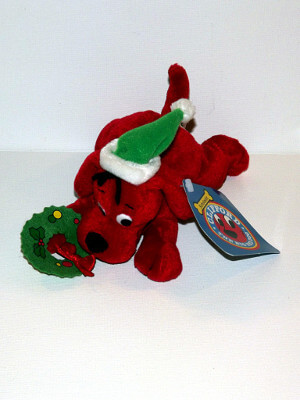 "Clifford the Big Red Dog Plushie: 6"" Holiday Beanbag Pals"