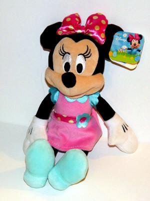 "Disney Plushie: 10"" Minnie Mouse, Easter Dress"