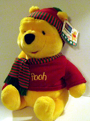 "Disney's Winnie-the-Pooh Plushie: 13"" Pooh Bear, Winter Edition"