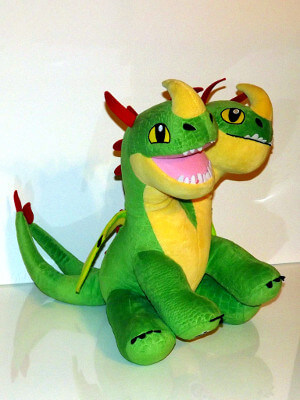 "Dragons Plushie: 17"" Barf and Belch, the Hideous Zippleback"