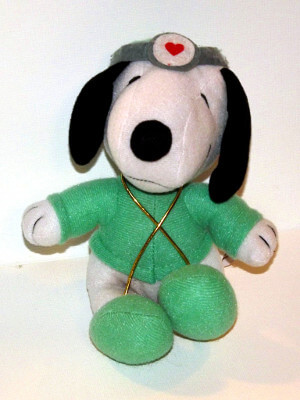 Peanuts Plushie: Snoopy, as a Doctor