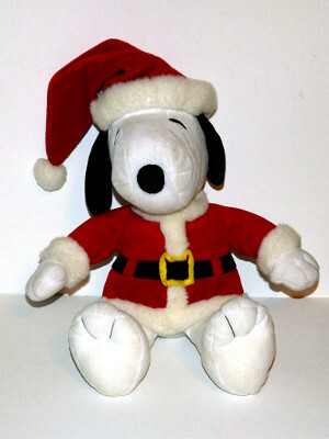 "Peanuts Plushie: 14"" Snoopy as Santa Claus"