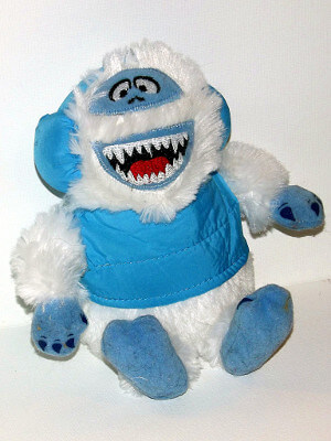 "Rudolph the Red-Nosed Reindeer Plushie: 8"" Bumble the Abominable Snow Monster"