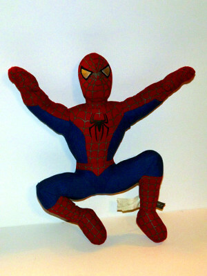 "Spiderman Plushie: 12"" Spider-Man, from Spider-Man 2"