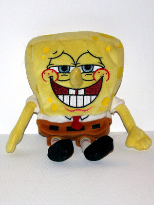 "SpongeBob SquarePants Plushie: 8"" Spongebob (Partial Bean Bag)"