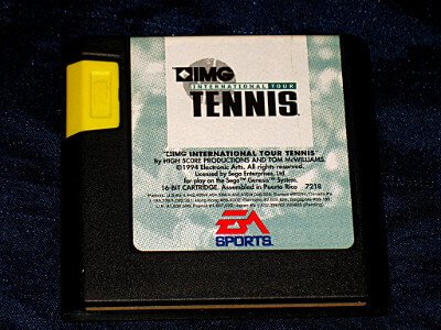 Sega Genesis Game: IMG International Tour Tennis