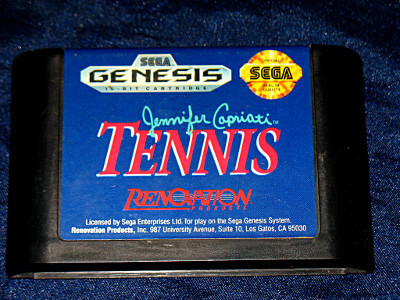 Sega Genesis Game: Jennifer Capriati Tennis