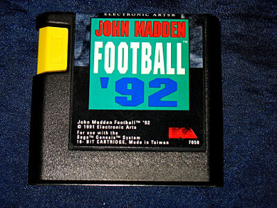 Sega Genesis Game: John Madden Football '92