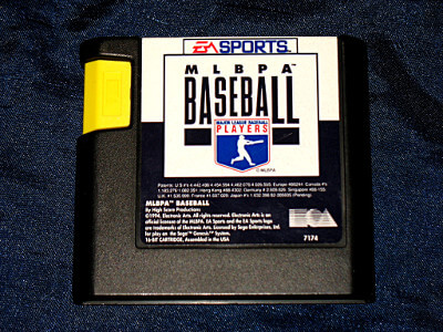 Sega Genesis Game: MLBPA Baseball with Case