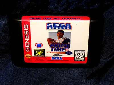 Sega Genesis Game: Prime Time NFL Football