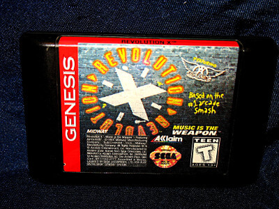 Sega Genesis Game: Revolution X Featuring Aerosmith