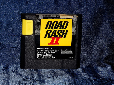 Sega Genesis Game: Road Rash II with Case and Manual